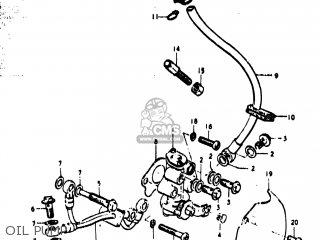 suzuki ts400 1974 (l) usa (e03) oil pump  oil pump � suzuki ts400