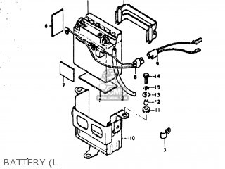 suzuki ts400 1977 (b) usa (e03) battery (l  battery (l � suzuki ts400