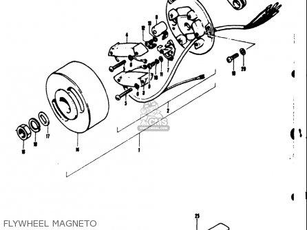 Suzuki Ts50 1971 1972 1973 1974 r j k l Usa e03 Flywheel Magneto