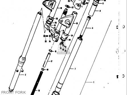 Suzuki Ts50 1971 1972 1973 1974 r j k l Usa e03 Front Fork