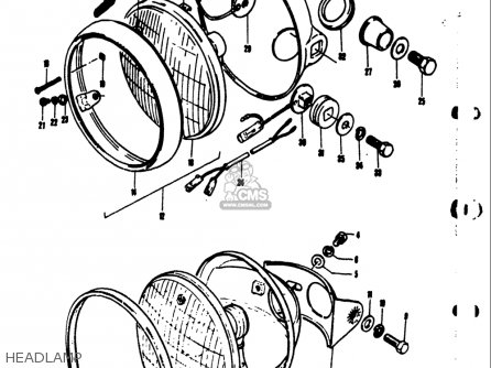 Suzuki Ts50 1971 1972 1973 1974 r j k l Usa e03 Headlamp