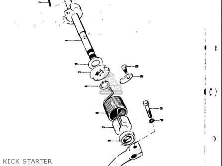 Suzuki Ts50 1971 1972 1973 1974 r j k l Usa e03 Kick Starter