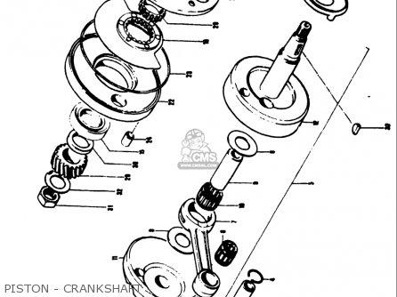Suzuki Ts50 1971 1972 1973 1974 r j k l Usa e03 Piston - Crankshaft