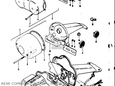Suzuki Ts50 1971 1972 1973 1974 r j k l Usa e03 Rear Combination Lamp - Reflector