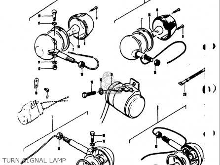 Suzuki Ts50 1971 1972 1973 1974 r j k l Usa e03 Turn Signal Lamp