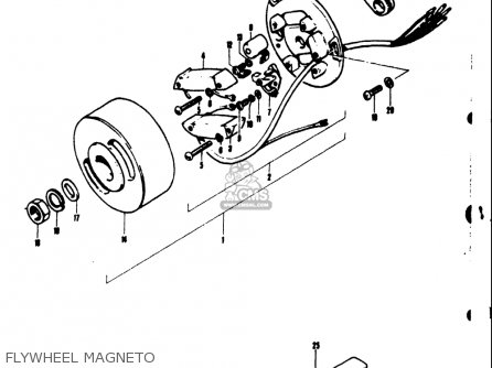 Suzuki Ts50 1971-1974 r j k l Usa Flywheel Magneto