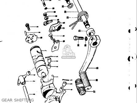 Suzuki Ts50 1971-1974 r j k l Usa Gear Shifting