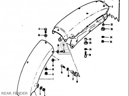 Suzuki Ts50 1971-1974 r j k l Usa Rear Fender