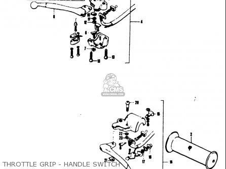 Suzuki Ts50 1971-1974 r j k l Usa Throttle Grip - Handle Switch