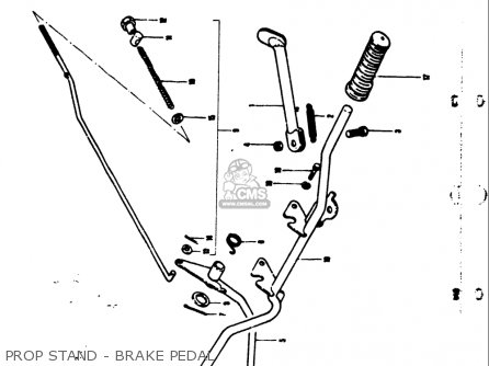 Suzuki Ts50 1971-1974 usa Prop Stand - Brake Pedal
