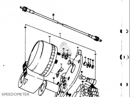 Suzuki Ts50 1971-1974 usa Speedometer