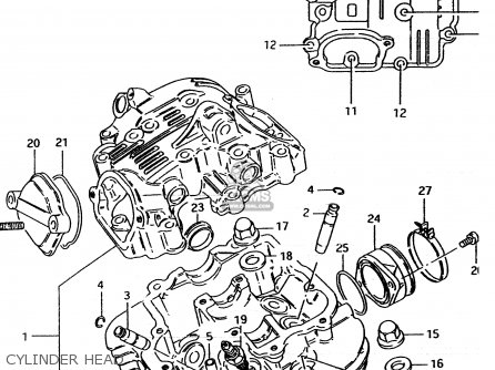 suzuki tu250x 1997  v   e02 e04 e17 e24 e25 e34 e39  parts