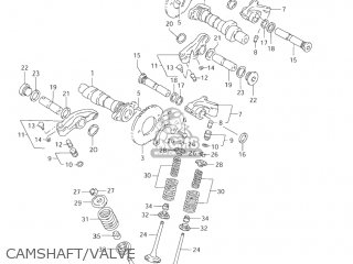 Suzuki Vl1500 Intruder 1998 w Usa e03 Camshaft valve