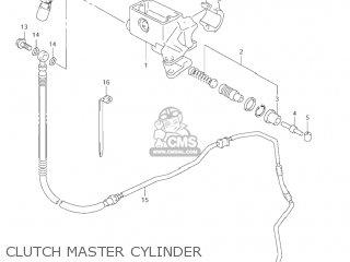 Suzuki Vl1500 Intruder 1998 w Usa e03 Clutch Master Cylinder