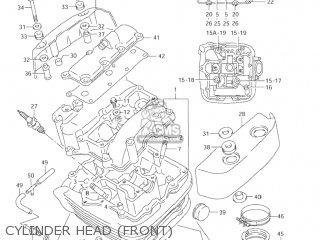 Suzuki Vl1500 Intruder 1998 w Usa e03 Cylinder Head front