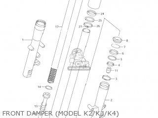 Suzuki Vl1500 Intruder 1998 w Usa e03 Front Damper model K2 k3 k4