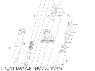 Suzuki Vl1500 Intruder 1998 w Usa e03 Front Damper model W x y