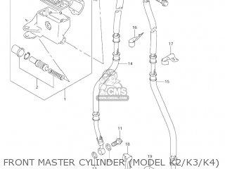 Suzuki Vl1500 Intruder 1998 w Usa e03 Front Master Cylinder model K2 k3 k4
