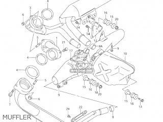 Suzuki Vl1500 Intruder 1998 w Usa e03 Muffler