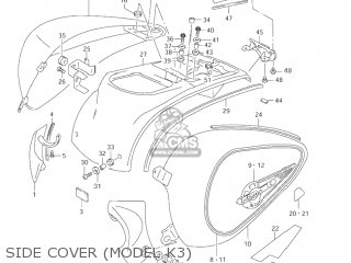 Suzuki Vl1500 Intruder 1998 w Usa e03 Side Cover model K3