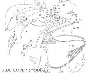 Suzuki Vl1500 Intruder 1998 w Usa e03 Side Cover model Y