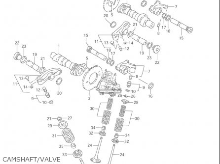Suzuki Vl1500  b Intruder 1998-2004 usa Camshaft valve