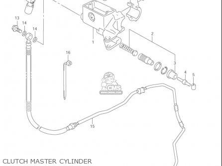 Suzuki Vl1500  b Intruder 1998-2004 usa Clutch Master Cylinder