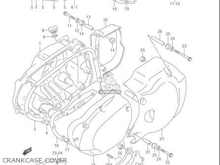 Suzuki Vl1500  b Intruder 1998-2004 usa Crankcase Cover