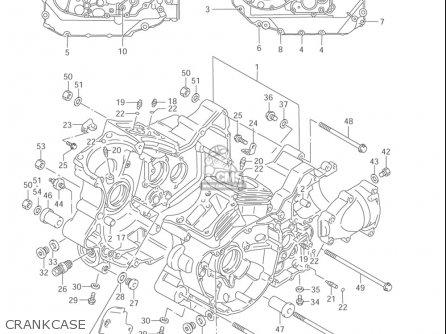 Suzuki Vl1500  b Intruder 1998-2004 usa Crankcase