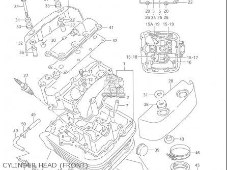 Suzuki Vl1500  b Intruder 1998-2004 usa Cylinder Head front