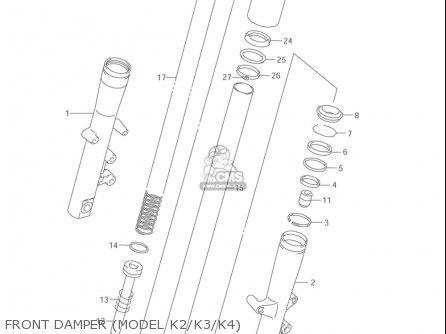 Suzuki Vl1500  b Intruder 1998-2004 usa Front Damper model K2 k3 k4