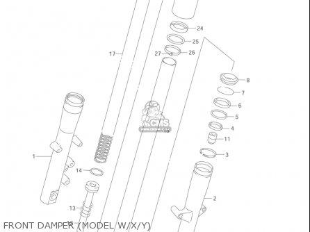 Suzuki Vl1500  b Intruder 1998-2004 usa Front Damper model W x y
