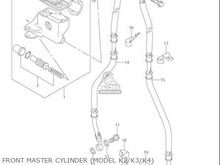 Suzuki Vl1500  b Intruder 1998-2004 usa Front Master Cylinder model K2 k3 k4