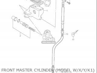 Suzuki Vl1500  b Intruder 1998-2004 usa Front Master Cylinder model W x y k1