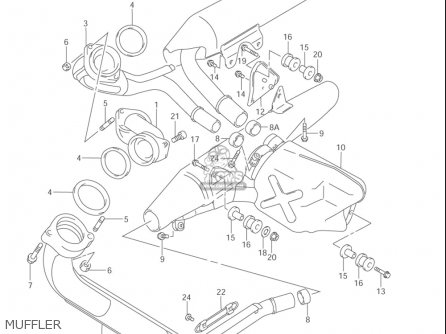 Suzuki Vl1500  b Intruder 1998-2004 usa Muffler