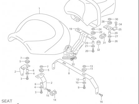 Suzuki Vl1500  b Intruder 1998-2004 usa Seat