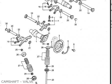 Suzuki Vs700 Glf  Glp  Glef  Glep 1986-1987 usa Camshaft - Valve
