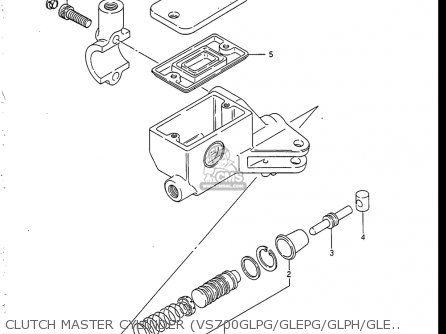 Suzuki Vs700 Glf  Glp  Glef  Glep 1986-1987 usa Clutch Master Cylinder vs700glpg glepg glph gleph