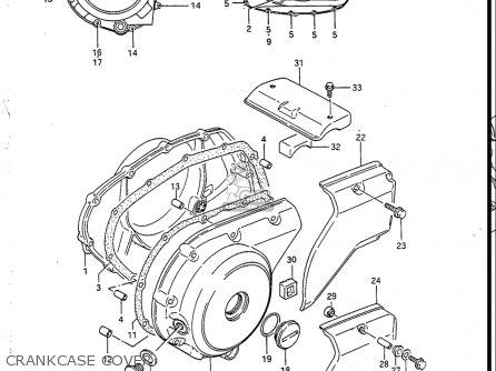 Suzuki Vs700 Glf  Glp  Glef  Glep 1986-1987 usa Crankcase Cover