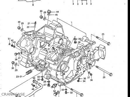 Suzuki Vs700 Glf  Glp  Glef  Glep 1986-1987 usa Crankcase