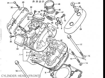Suzuki Vs700 Glf  Glp  Glef  Glep 1986-1987 usa Cylinder Head front