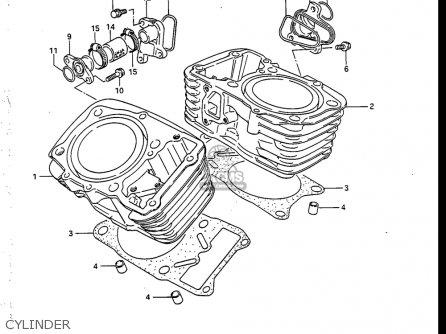Suzuki Vs700 Glf  Glp  Glef  Glep 1986-1987 usa Cylinder