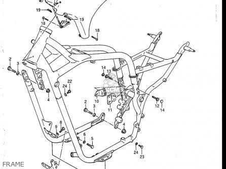 Suzuki Vs700 Glf  Glp  Glef  Glep 1986-1987 usa Frame