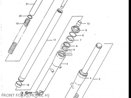 Suzuki Vs700 Glf  Glp  Glef  Glep 1986-1987 usa Front Fork model H