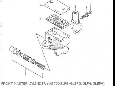 Suzuki Vs700 Glf  Glp  Glef  Glep 1986-1987 usa Front Master Cylinder vs700glfg glefg glfh glefh