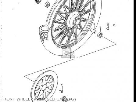 Suzuki Vs700 Glf  Glp  Glef  Glep 1986-1987 usa Front Wheel vs700glefg glepg