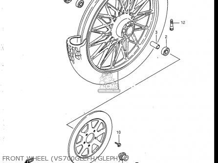 Suzuki Vs700 Glf  Glp  Glef  Glep 1986-1987 usa Front Wheel vs700glefh gleph