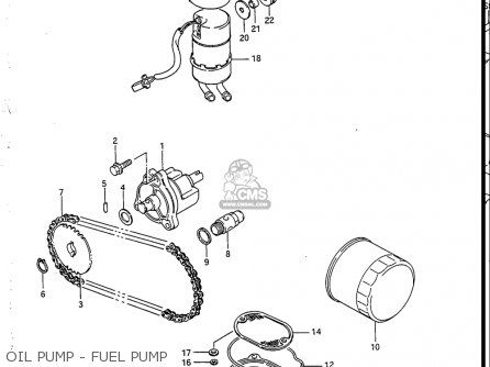 Suzuki Vs700 Glf  Glp  Glef  Glep 1986-1987 usa Oil Pump - Fuel Pump