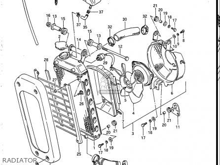 Suzuki Vs700 Glf  Glp  Glef  Glep 1986-1987 usa Radiator