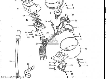 Suzuki Vs700 Glf  Glp  Glef  Glep 1986-1987 usa Speedometer